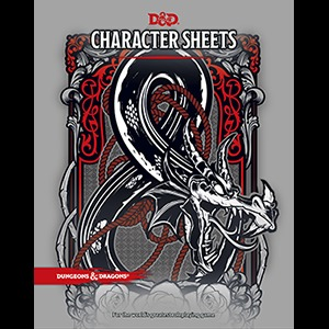 5th Edition Character Sheets (Set of 24 Sheets)