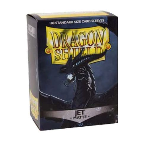 Dragon Shield Sleeves: Matte Jet (Box Of 100)