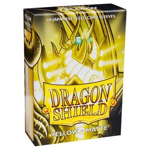 Dragon Shield Sleeves: Japanese Matte Yellow (Box Of 60)
