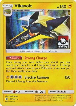 Pokemon SM BASE SET VIKAVOLT 52//149 RARE HOLO