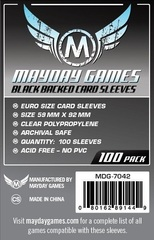 Mayday - Standard Euro Sleeves Black Backed 59Mmx92Mm 100Ct