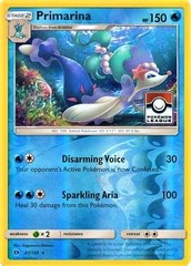 Primarina - 41/149 - Reverse Holo - 2017 Pokemon League Stamp Promo Exclusive