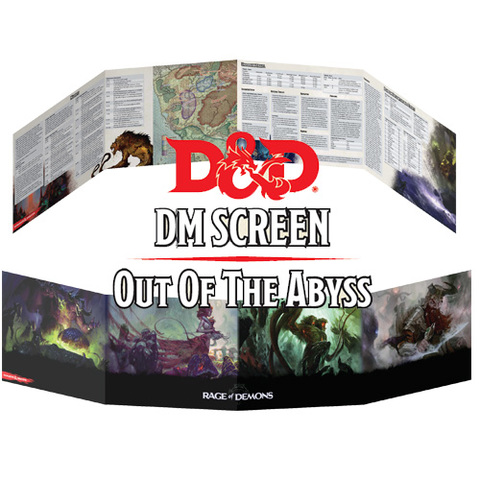 Dungeons And Dragons: Rage Of Demons - Out Of The Abyss Dungeon Master Screen