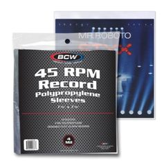 BCW - Soft Sleeves - 45 Rpm Record Size 4-Mil Thickness