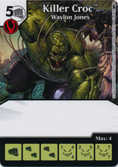 Killer Croc - Waylon Jones (Die and Card Combo)