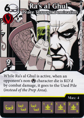 Ra's al Ghul - Peace Through Domination (Die and Card Combo)