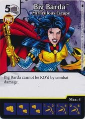 Big Barda - Miraculous Escape (Die and Card Combo) - Foil