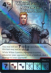 White Lantern Aquaman - The Right to Live (Die and Card Combo) - Foil