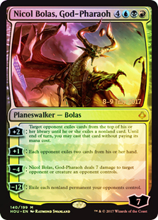 Nicol Bolas, God-Pharaoh - Foil - Prerelease Promo