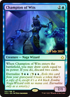 Champion of Wits (HOU Prerelease Foil)