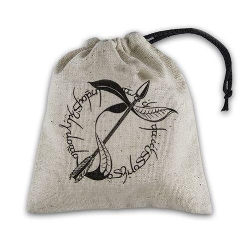 Q-Workshop - Basic Dice Bag - Elvish Beige And Black
