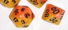 Gate Keeper Games - Halfsies Dice - Phoenix 7-Dice Set