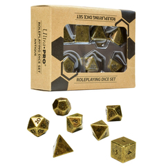 Polyhedral: Ultra Pro Heavy Metal - Bronze w/ black 7 Set Dice