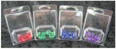 7Ct Set Translucent Mini-Polyhedral Green/White (CHX23055)