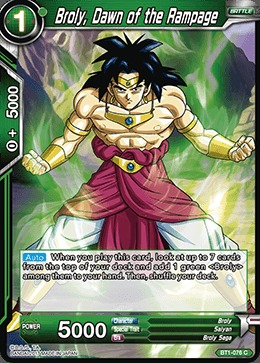 Broly, Dawn of the Rampage - BT1-076 - C