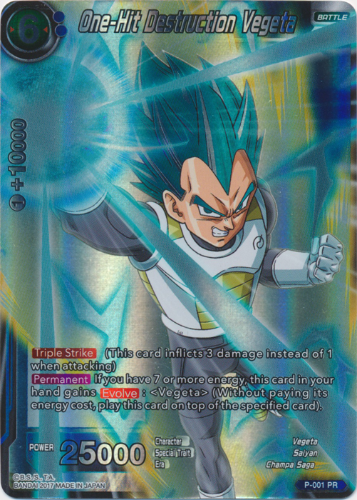 One-Hit Destruction Vegeta - SP Set Promo - P-001 - PR