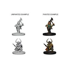 Dwarf Female Barbarian - Dungeons & Dragons (Nolzur's Marvelous Miniatures) - Unpainted