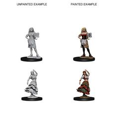 Pathfinder Deep Cuts Unpainted Miniatures: W4 Bartender/Dancing Girl
