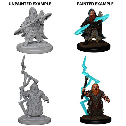 Pathfinder Battles Unpainted Minis - Dwarf Male Sorcerer