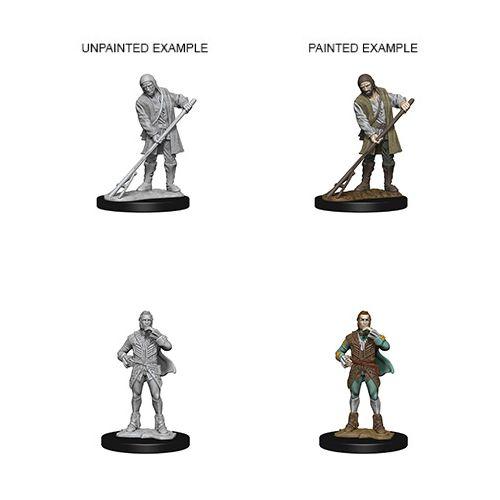 Pathfinder Deep Cuts Unpainted Miniatures: W4 Townspeople (Farmer/Aristocrat)