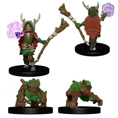 Wizkids Pre-Painted Miniatures: Boy Druid And Tree Creature