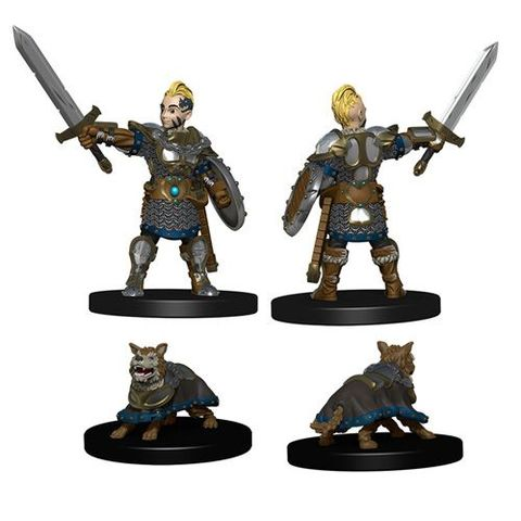 Wardlings Miniatures: Boy Fighter And Battle Dog