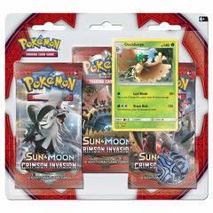 Sun & Moon - Crimson Invasion 3 Pack Blister - Decidueye