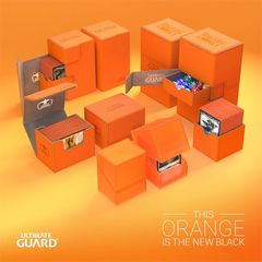 Ultimate Guard Twin Flip'N'Tray Deck Case 200+ Standard Size Xenoskin Orange