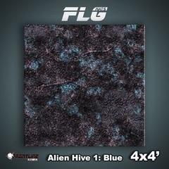 Front Line Gaming - Mats Alien Hive Blue 4X4