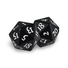 Ultra Pro Heavy Metal D20: Black Magic (2 dice)