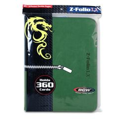 BCW Z-Folio 9 Pocket Lx Binder Green