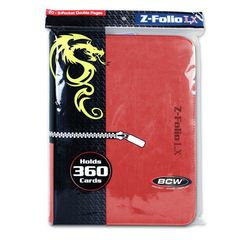 BCW Z-Folio 9 Pocket Lx Binder Red