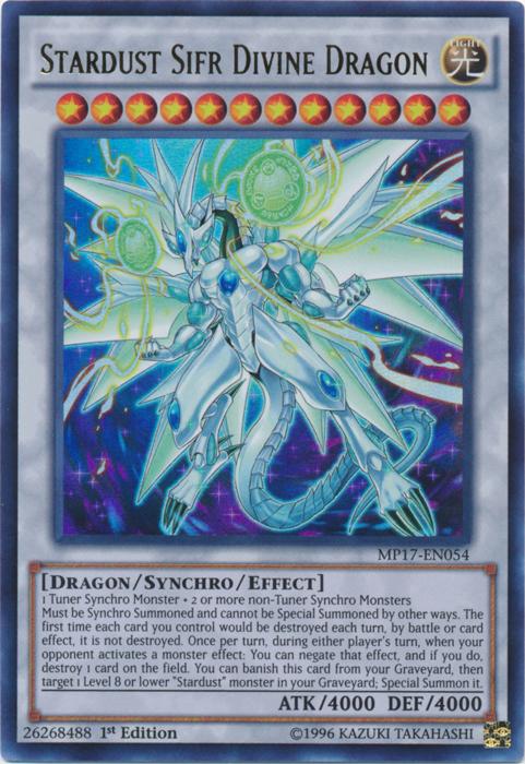Stardust Sifr Divine Dragon - MP17-EN054 - Ultra Rare - 1st Edition