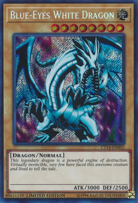 Blue-Eyes White Dragon - CT14-EN002 - Secret Rare - Limited Edition