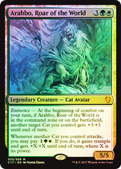 Oversized Foil - Arahbo, Roar of the World on Channel Fireball