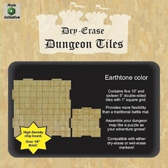 Dry Erase Dungeon Tiles - Earthtone: (5) 10