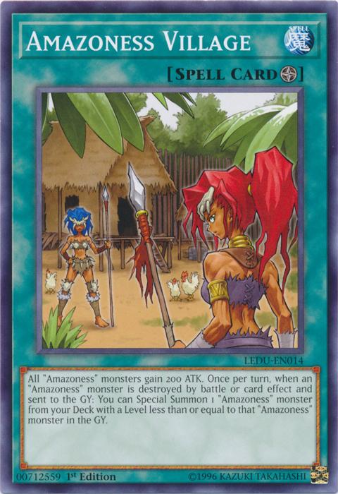 Amazoness Village - LEDU-EN014 - Common - 1st Edition
