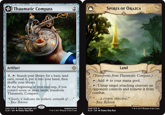 Thaumatic Compass // Spires of Orazca  - Foil