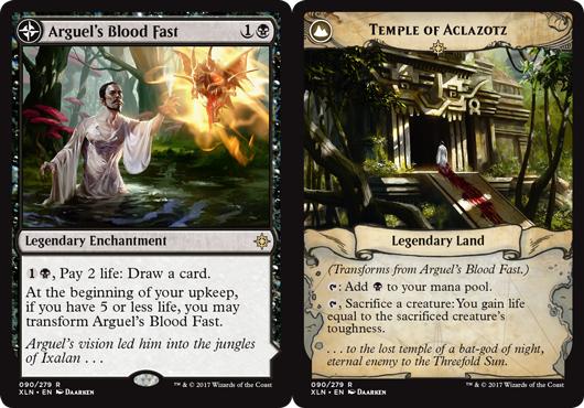 Arguels Blood Fast // Temple of Aclazotz - Foil