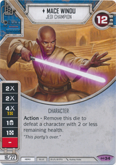 Mace Windu - Jedi Champion (Sold with Matching Die)