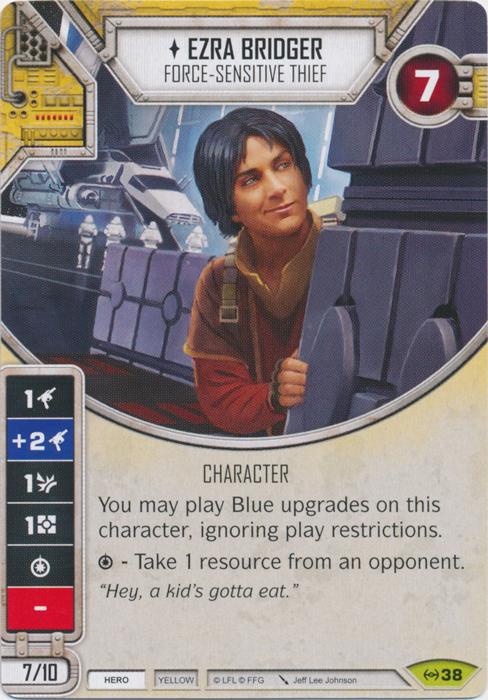 Ezra Bridger - Force-sensitive Thief - Star Wars Destiny