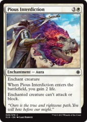 Pious Interdiction - Foil