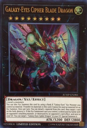 Galaxy-Eyes Cipher Blade Dragon - JUMP-EN081 - Ultra Rare - Limited Edition