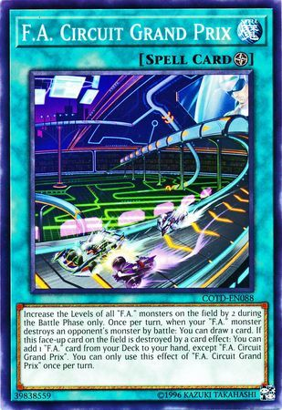 1st Edition COTD Code of th Common 3x F.A COTD-EN088 Circuit Grand Prix