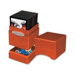 Ultra Pro Hi-Gloss Satin Deck Case Tower Pumpkin [Metallic Orange]