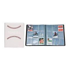Ultra Pro - Premium 9-Pocket Pro-Binder: White Stitched Baseball