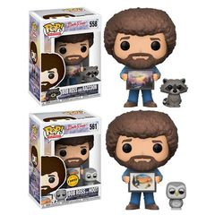 Pop! - Bob Ross and Raccoon (The Joy of Painting)