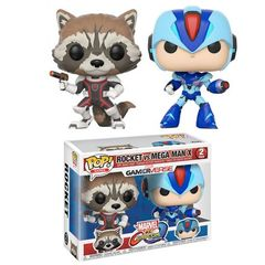 Pop! Games: Capcom Vs. Marvel: 2 Pack - Rocket Raccoon Vs Megaman