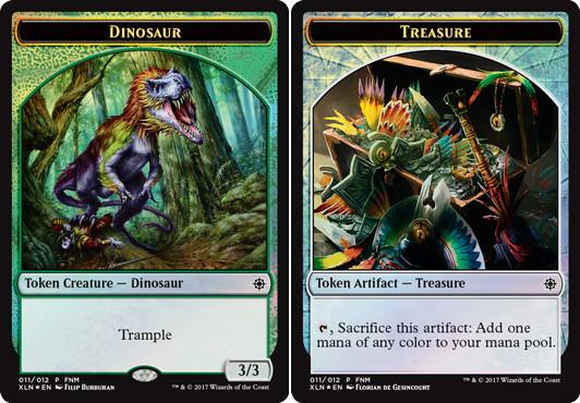 Dinosaur // Treasure Token - Foil 2017 FNM Promo
