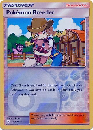 Pokemon Breeder - 63/73 - Uncommon - Reverse Holo